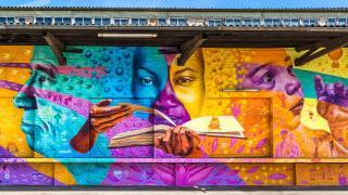 World Refugees Paint Their Journey at Stuttgart, Germany; Led by Artist, Joel Bergner. All rights reserved.