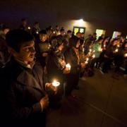 Picture of candlelight vigil